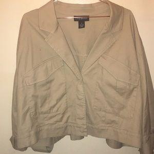 Lane Bryant khaki jacket